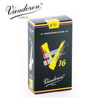 Wholesale Reeds For Sax - Wholesale- Original France Vandoren V16 Alto Sax Reeds   Saxophone Alto Mib-Eb Reeds Strength 2.5#, 3#, 3.5# Box of 10 [Free shipping]