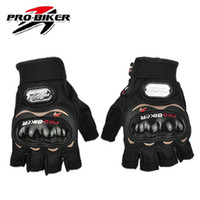 Wholesale Luvas Pro Biker - Wholesale-New PRO-BIKER Motocross Motorbike Racing Riding Gloves Cycling Sports Half Finger Gloves Motorcycle Luvas Gloves Free Shipping