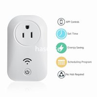 Wholesale Remote Power Socket Switch - Smart Home WIFI Power Plugs Compatible with Alexa Sonoff Wifi Socket Outlet Automation Phone App Timing Switch Remote Control EU US Plug