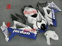Wholesale Oem Fairings - White Blue Injection Fairings Bodywork kit Suzuki GSXR1000 2007-2008 OEM 13