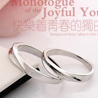 Wholesale Silver Ring Couple Intertwined - Korean version S925 sterling silver jewelry intertwined love couple rings same paragraph jewelry factory trade