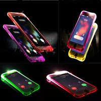 Anruf-Blitz-Flash-LED-Licht-Fall-weicher TPU-transparente Fälle Shockproof Abdeckung für iphone 5 5s 6 6s 7 7 plus samsung s8 plus s7 Rand