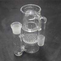 petekli sıçrama koruması toptan satış-Petek su sıçrama için Kül Catcher Bongs Percolator için 18.8mm Cam su Boruları Ashcatcher Cam Bongs