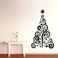 Wholesale Christmas Home Window Stickers - PW213 The New Shop Window Snowman Christmas Tree Christmas Wall Sticker Christmas Decorations For Home Vinyl Carving Sticker