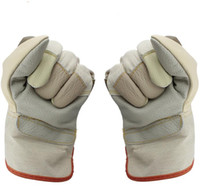 Wholesale leather working gloves resale online - 26cm long colorful short leather Gloves welding protective gloves handling labor protection work gloves