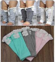 leggings de encaje hasta la rodilla al por mayor-calcetines del bebé calcetines calentadores de la pierna calcetines de los niños infantiles calcetas del niño calcetines de los bebés calcetines altos de la rodilla calcetines de tubo de Navidad