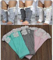 ingrosso gambali alti in ginocchio-calzini per bebè Scaldamuscoli in pizzo infantili calzini per bambini leggings per bambini neonate calze bambini calzettoni alti calze natalizie