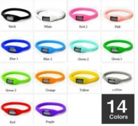 Wholesale Negative Ion Wrist Watch - car 100PCS New Silicone Digital Jelly Anion Negative Ion Sports Bracelet Wrist Watch,Free Shipping! Black White Red Blue Watches