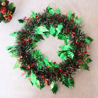 Wholesale Indoor Wreaths - New 2pcs Lot Christmas Wreath Knocker Christmas Indoor Decorations Door Hotel Hanging Festival Decorative Supplies Free Shipping Party Decor