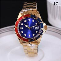 Wholesale Ceramic Watches White Gold - 2017 New luxury brand GMT Ceramic Bezel Mens Mechanical Stainless Steel Automatic Movement Watch Sports Self-wind Watches Roless Wristwatch