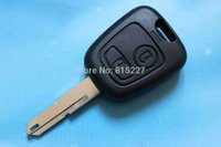 Wholesale Car Key Shell Peugeot - High Quality 2 Buttons Car Remote Key Case Shell for Peugeot 106 206 306 Free Shipping