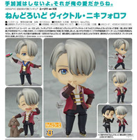 Wholesale Action Figure Anime Resin - Lilytoyfirm Anime YURI!!! on ICE 10cm Victor Nikiforov 741# Cute Nendoroid Action Figures PVC Doll Resin Collection Model Toys Gifts