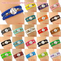 Wholesale Halloween Customs Women - Custom-Baseball Charm Wrap Bracelets Softball Pendants Bracelets Sport Love Leather Wax Unisex Women Men Girl Jewelry Gift