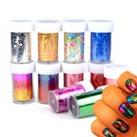 Wholesale Diy Foil Art - Newest Fashion 3D DIY Nail Art Starry Sky Sickers 49 Random Color Nail Art Transfer Foil Decals