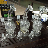 Wholesale Ectronic Cigarette - pyrex bong water pipes recycler Egg Mother Fab Egg bubble smoking ectronic cigarette glass bong manufacturers