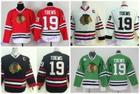 Wholesale Cheap C - Youth Jonathan Toews Jersey Chicago Blackhawks Toews Jerseys 19 Kids Red White Black Green Boys Cheap Hockey Jersey C Patch S-XL
