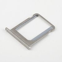 Wholesale Iphone 4s Replacement Silver - Wholesale-10Pcs metal silver Micro SIM Card Tray Holder Slot Replacement for Apple for iphone 4 4G 4S 4th Hot New