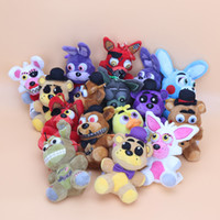 Wholesale teddy bear resale online - 16pcs Set cm Five Nights At Freddy S Fnaf Plush Foxy Chica Bonnie Golden Nightmare Freddy Toy Keychain Pendant Plush Toys