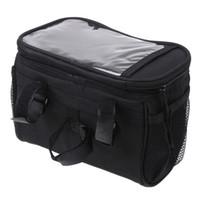Wholesale Cycling Bag Rack - Black Bicycle Cycling Handlebar Bag Front Tube Pannier Rack Bag Basket for outdoor sport 3.6L H8110