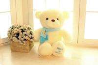 ingrosso bambola di orsacchiotto grande-2018 I più nuovi Teddy Bears Peluche Bambole di pezza 2018 Big Size Cute Bear Farcito Neonati Giocattoli Carino 30 cm 45 CM 65 CM