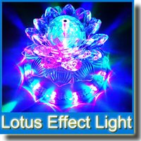 Wholesale Auto Rotating Lotus Effect Light LED RGB Crystal Stage Light DJ Disco Bar Show Home Decoration Lighting