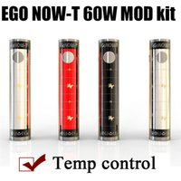 Wholesale Ego T Crystal Battery - Newest EGO NOW-T TC 60W Kit vs Ego t battery Ego twist battery Istick 30w mod Temperature control mod kit with Crystal box