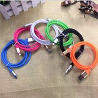 Wholesale laptop faster - 1M FT colorful Q type A USB Charging Cords universal multi function fast Charger laptop usb cable