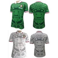 Tailandia Calidad 1998 México Retro Jerseys Classic Vintage Soccer jersey  Inicio Verde HERNANDEZ BLANCO 98 camisa de fútbol camisa de futebol 51215d8cd1b23