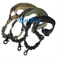 Wholesale Tactical One Point Sling - Tactical 1 One Single Point Adjustable Bungee Rifle Gun Sling System Strap #3819