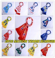 Wholesale Souvenirs England - SOCCER SCARF NATION 2018 CUP FAN WORLD SOUVENIR RUSSIA ENGLAND ARGENTINA COLOMBIA MEXICO SPAIN BRASIL DENMARK