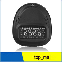 Wholesale Gps Vehicle Security System - Universal car HUD GPS A1 Head Up Display vehicle alarm security system Speedometer KMH MPH Overspeed 002983