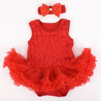 Wholesale Cheap Newborn Clothes For Girl - Wholesale-2PCS 0-12M summer newborn baby girl dresses 2015 baby girls rompers skirt cotton jumpsuit for babies cheap clothes china BC1183