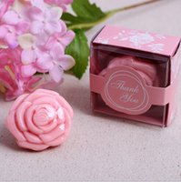 Wholesale Fancy Soaps - 100pcs Lot+Rose Wedding Favors Scented Soaps Flower Fancy Soap-3 Colors Available Bridal Shower Gift Soap Favor+FREE SHIPPING