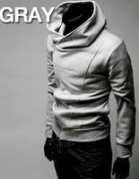 zipper diagonal do hoodie venda por atacado-O ENVIO GRATUITO de 2015 HOT Brand New zíper Diagonal Hoodies dos homens Moletons Casaco Jaqueta Tamanho M, L, XL, XXL, XXXL