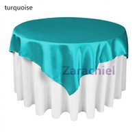 Wholesale Multi Colors Table cloth Overlay cmx215cm quot X85 quot SquareTop Table Decorations for Wedding Party Banquet Supply