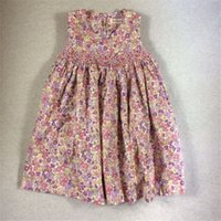 Wholesale Tutu Length Age - Big Girl Dresses Girls Princess Dresses Kids Flower Print For High Quality A Line Baby Girl Dress Age 3T-7T 2017 New Dress