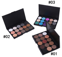 Wholesale Eye Shadow Palette Smoked - 15 Color Nude Smoked Pearl Eyeshadow Shimmer Eyeshadow Makeup Palette Set Professional Eye Shadow Foundation Makeup Tool 3 Palettes