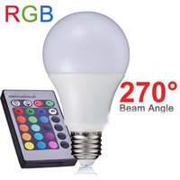 Wholesale NEW RGB LED Lamp W W W E27 RGB LED Light Bulb V V SMD5050 Multiple Color Remote Control RGB