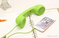 Wholesale Retro Coco Phone - 5pcs lot New Coco Retro Phone Anti-radiation Classic Handset For IPhone or 3.5mm Cell Mobile Phones With Glidewheel Volume Control