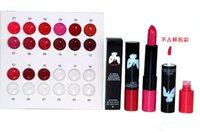 Wholesale Marilyn Lipstick - New Released Makeup Marilyn Monroe 2 in 1 lustre lipstick kissable lip colour 12pcs Free shipping high quality from faststep 48pcs hot sell