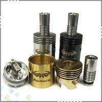 Wholesale V2 Brass - Mutation-X V2 Mod Atomizer RDA Dual Coils Rebuildable Atomizer Mutation X V2 mod Vaporizer E-cigarette SS Brass Black 18 air holes DHL Free