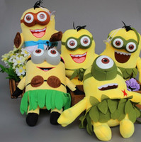 Wholesale Despicable Stewart Toy - 20cm despicable me 3 minions plush minion jorge stewart dave Hawaii Grass Skirts Minions Plush Toys Stuffed Doll free shipping in stock
