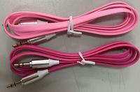 ingrosso cavo della cuffia della tagliatella-Noodle Flat 3.5mm AUX Cavo Audio per Iphone 1M 3FT Jack Stero Car Aux Audio Extention Cavi Per PC del telefono MP3 Altoparlante per cuffie