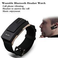 Wholesale Bluetooth Fashion Vibrate - Smart Watches Digital Intelligent Wearable Technology Wireless Bluetooth Headset Watch 2016 New Fashion Music Call Vibrate
