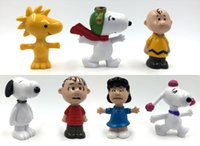 Wholesale Peanuts Comics Pencil Stub Toys Charlie Brown And Snoopy Figures Toys Styles Snoopy Action Figures Dolls