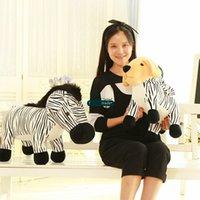 Wholesale Baby Zebra Stuff - Dorimytrader 24''   60cm Cute Baby Doll Stuffed Soft Plush Emulational Animal Dog and Zebra Toy 2 Models Nice Kid Gift Free Shipping DY60891