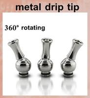 Wholesale Metal Tips For Vivi Nova - 360 degree rotating stainless Metal Drip Tips MouthPiece vape drip tips 510 drip tips for DCT EE2 vivi nova aerotank protank asipire FJ084