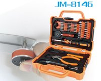 Wholesale Tool Kits For Cellphones - JM-8146 47 in 1 Multifunctional Household Maintenance Tools Kit Screwdriver Set for cellphone PC computer glass camera ect