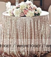 Wholesale Wedding Decoration Table Cloths - Sequins Table Cloth Custom Made High Quality Wedding Decorations Table Skirting Party Birthday Supplies 2016 Sequined Table Cloth