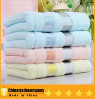 ingrosso panno di fabbrica diretto-Asciugamano di cotone puro di alta qualità 100% Cotone rettangolo Adulti faccia asciugamano di stoffa Asciugamano da bagno vendita diretta della fabbrica Tessili per la casa